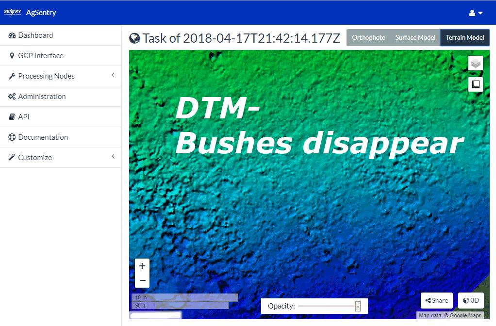 DTM- Digital terrain model